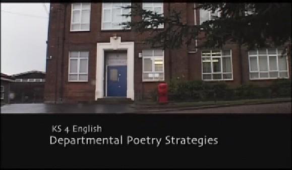 KS4 English – Departmental Poetry Strategies