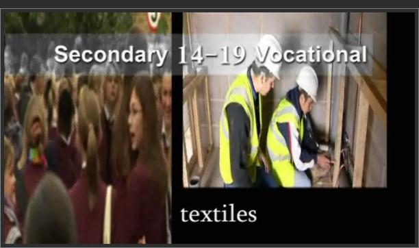Secondary 14-19 Vocational – Textiles