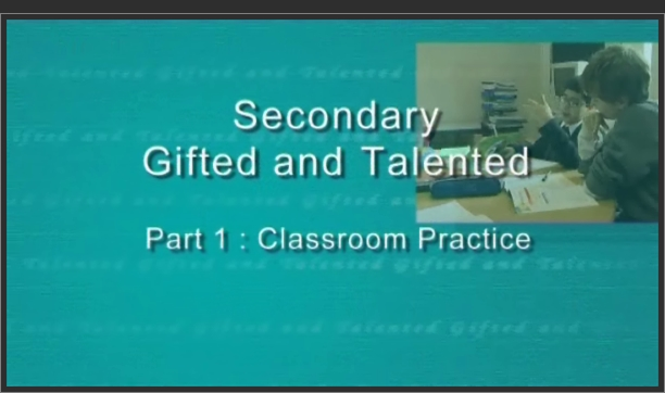 Secondary Gifted and Talented – Classroom Practice