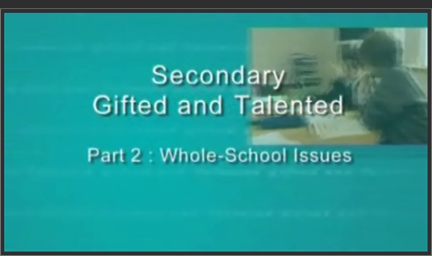 Secondary Gifted and Talented – Whole School Issues