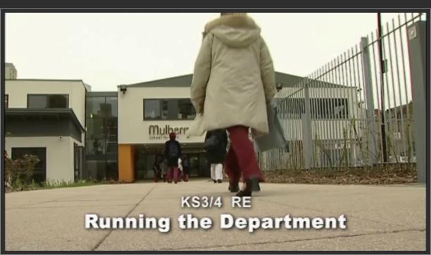 KS3/4 RE – Running the Department