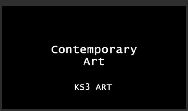 KS3 Art – Contemporary Art
