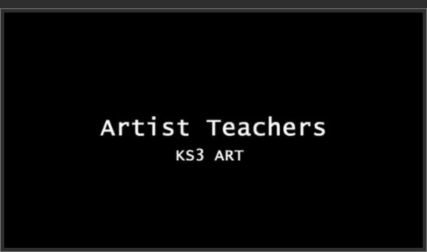 KS3 Art – Artist Teachers