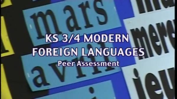KS3/4 Modern Foreign Languages – Peer Assessment