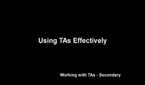 Using TAs Effectively