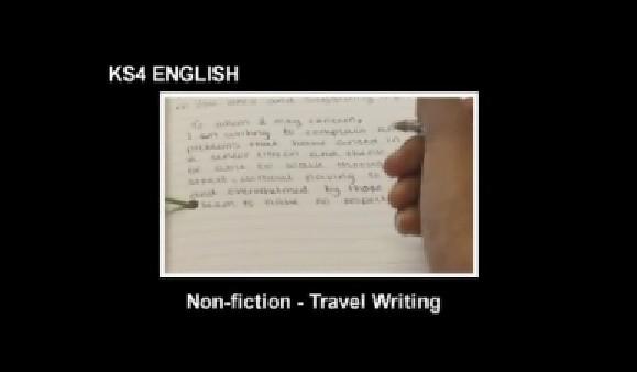KS3/4 English – Non Fiction -Travel Writing