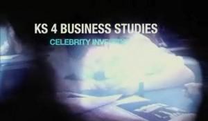 KS4 Business Studies – Celebrity Investing