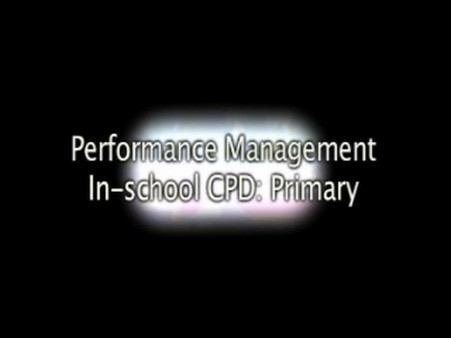 Performance Management – In-School CPD – Primary