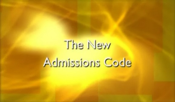 New Admissions Code