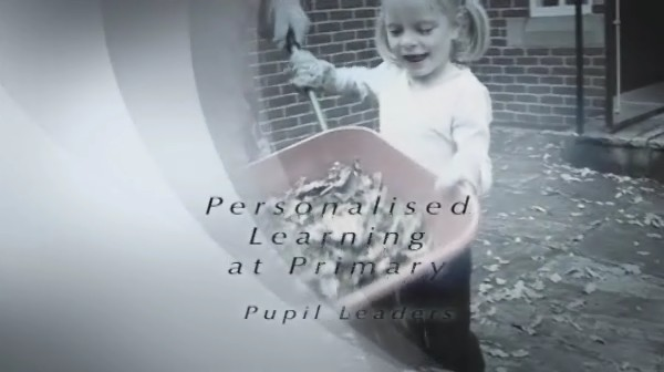 Personalised Learning at Primary – Pupil Leaders