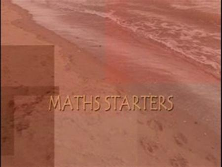 Maths Starters – Seaside