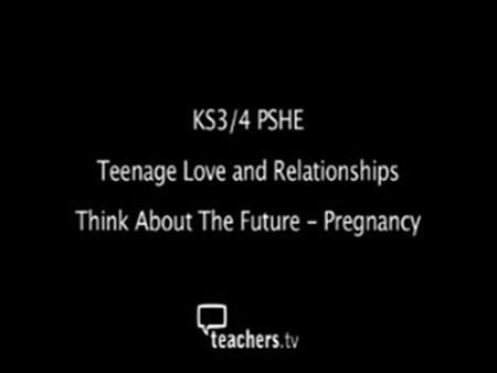 Think About the Future – Pregnancy