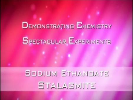 Sodium Ethanoate Stalagmite