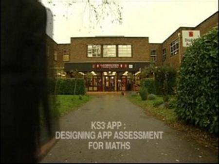 Designing APP Assessment for Maths