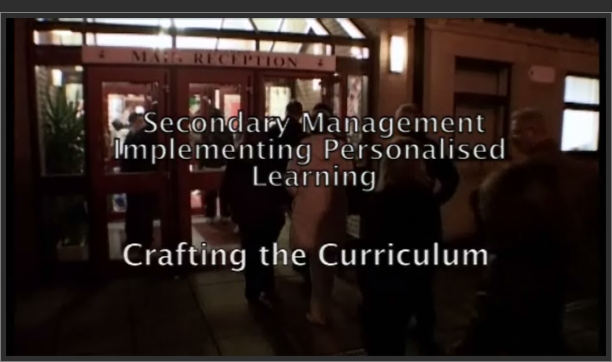 Implementing Personalised Learning: Crafting the Curriculum