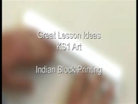 KS1 Art – Indian Block Printing