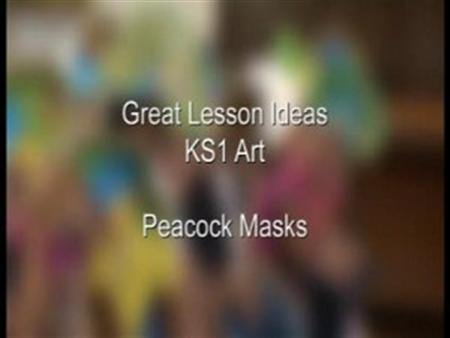 KS1 Art – Peacock Masks