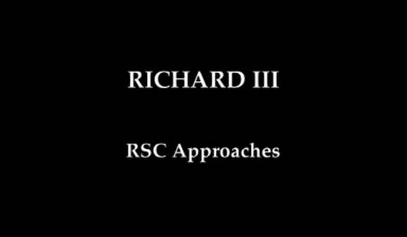 KS3 English – Richard III: RSC Approaches