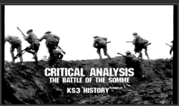 KS3 History – Critical Analysis