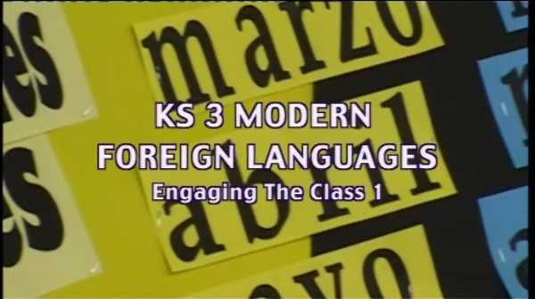 KS3 Modern Foreign Languages – Engaging the Class 1