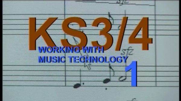 KS3/4 Music – Working with Music Technology 1