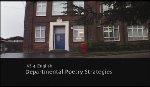KS4 English – Departmental Poetry Strategies