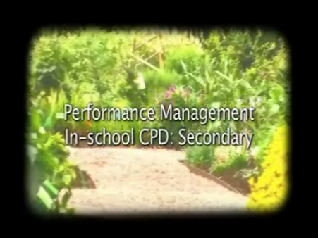 Performance Management – In-School CPD – Secondary