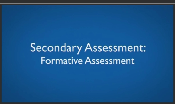 Secondary Assessment – Formative Assessment