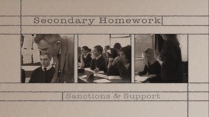 Secondary Homework – Sanction and Support