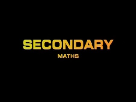 Secondary Maths