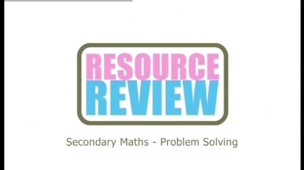 Secondary Maths: Problem Solving