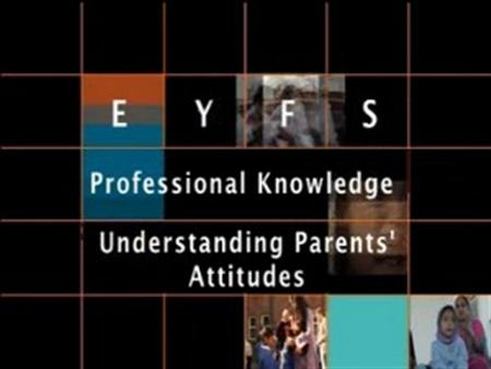 Understanding Parents' Attitudes