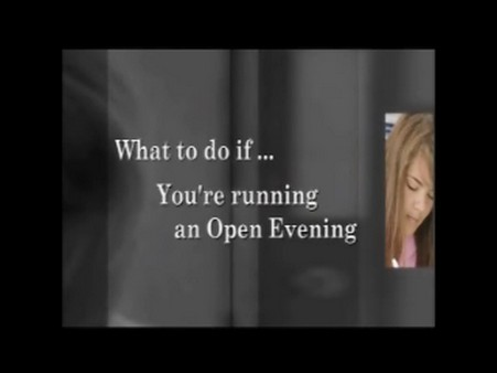 You're Running an Open Evening