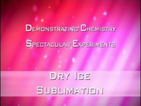Dry Ice – Sublimation