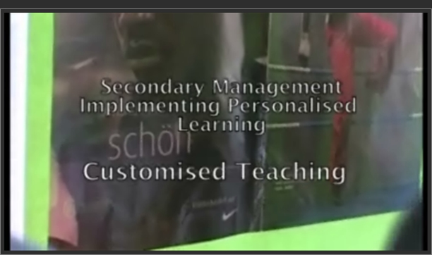 Implementing Personalised Learning: Customised Teaching