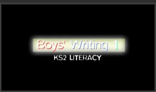 KS2 Literacy – Boys' Writing 1