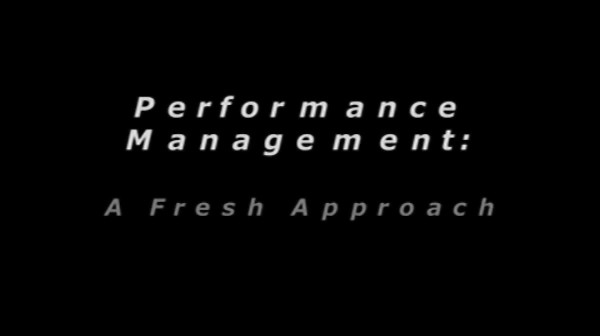 Performance Management – A Fresh Approach