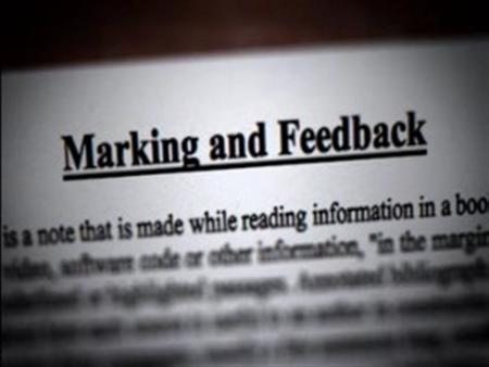 Self Assessment and Peer-to-Peer Marking
