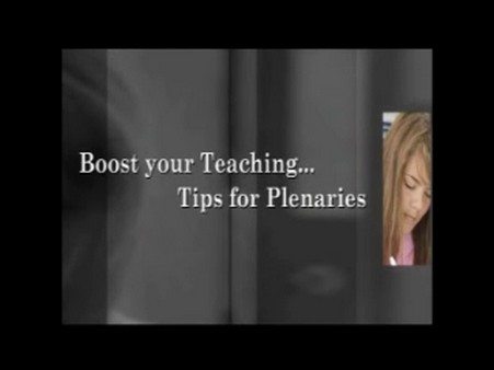 Tips on Plenaries